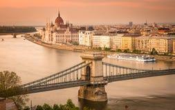 Городской пейзаж Будапешта Стоковые Изображения