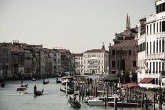 Городской пейзаж Венеции, Италии, винтажных оттенков Стоковое Изображение RF