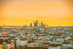 Городской пейзаж вены в Австрии стоковые фото
