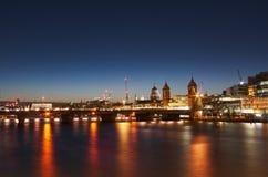 Городской пейзаж вечера Лондона Стоковое Фото