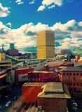 Городской пейзаж Великобритания Манчестера Стоковые Изображения RF