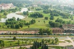 Городской пейзаж - взгляд Birdeye Стоковые Изображения RF