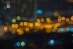 Городской пейзаж вполне большой ночной жизни когда вы teleport в другие Стоковая Фотография RF