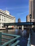 Городской пейзаж в городском Milwaukee, Висконсине, США Стоковое Изображение