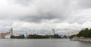 Городской пейзаж в Екатеринбурге, Российская Федерация Стоковые Фотографии RF