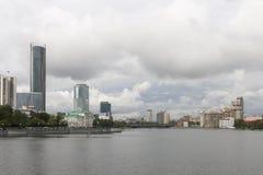 Городской пейзаж в Екатеринбурге, Российская Федерация Стоковое Фото