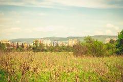Городской пейзаж в жаре Стоковые Фото