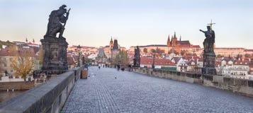 Городской пейзаж в Праге в осени, чехии Стоковая Фотография