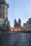 Городской пейзаж в Праге в осени, чехии Стоковое Фото