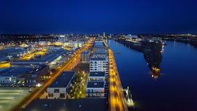 Городской пейзаж гавани Бремена Стоковое Изображение