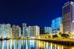 Городской пейзаж Гонконга стоковые фотографии rf