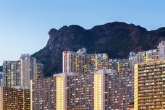 Городской пейзаж Гонконга стоковое изображение