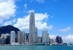 Городской пейзаж Гонконга стоковые фото