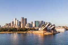 Городской пейзаж горизонта Сиднея Стоковые Изображения RF