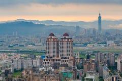 Городской пейзаж города Тайбэя, Тайваня стоковое фото rf