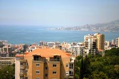 Городской пейзаж залива Jounieh Стоковая Фотография RF