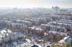 Городской пейзаж зимы Стоковое Изображение RF