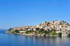 Городской пейзаж Кавалы, Греция Стоковое Изображение