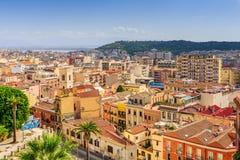 Городской пейзаж Кальяри Италии Стоковые Изображения