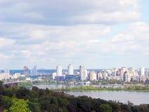Городской пейзаж Киева и реки Dnieper Стоковое фото RF