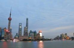 Городской пейзаж Китай небоскребов Шанхая Пудуна Стоковое фото RF