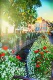 Городской пейзаж Кольмара на летнем дне alsace Франция Стоковые Изображения RF