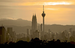 Городской пейзаж Куалаа-Лумпур Стоковая Фотография RF