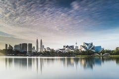 Городской пейзаж Куала-Лумпур в утре Стоковые Фото