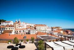 Городской пейзаж Лиссабона Португалии стоковое фото