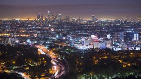 Городской пейзаж Лос-Анджелеса сток-видео