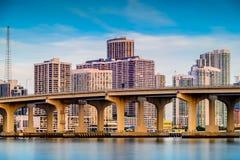 Городской пейзаж Майами Стоковая Фотография