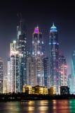 Городской пейзаж Марины Дубай, ОАЭ Стоковое Изображение RF