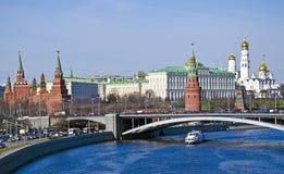 Городской пейзаж Москвы, ориентир ориентир Кремля стоковая фотография rf