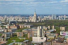 Городской пейзаж Москвы Стоковое Фото