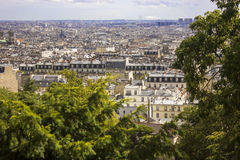 городской пейзаж моста над переметом paris стоковое изображение rf