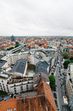 Городской пейзаж Мюнхена пасмурный день Стоковое фото RF