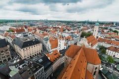 Городской пейзаж Мюнхена пасмурный день Стоковые Фото