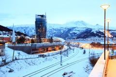 Городской пейзаж Норвегия городка Narvik Стоковая Фотография RF