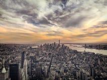 Городской пейзаж Нью-Йорка, США Стоковое Изображение RF
