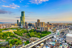 Городской пейзаж Осака Японии Стоковое фото RF