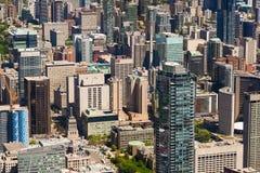 Городской пейзаж от башни CN, Онтарио Торонто, Канада Стоковое Изображение