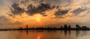 городской пейзаж панорамный Стоковое фото RF
