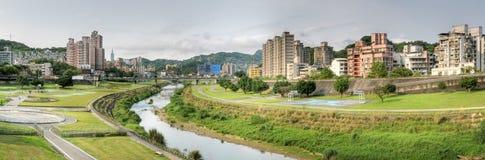 городской пейзаж панорамный Стоковая Фотография