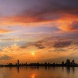 городской пейзаж панорамный Стоковые Изображения RF