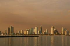 городской пейзаж после полудня Стоковые Фото