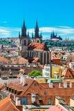 Городской пейзаж Праги Стоковое Изображение