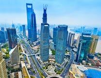 Городской пейзаж района Китая финансовый Стоковое фото RF