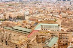 Городской пейзаж Рима, вид с воздуха стоковое изображение rf