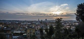 Городской пейзаж Рима Стоковая Фотография
