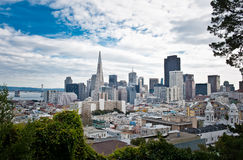 Городской пейзаж Сан-Франциско Стоковые Фото